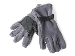 Fleece Gloves for Him - Charcoal