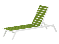 Euro Chaise, Gloss White/Lime