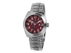 Frontline Swiss Quartz Watch, Burgundy