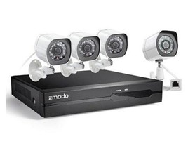Zmodo 4CH/4Cam 1080p sPoE NVR Security System