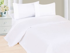 Lavish Home Sheet Set - White- 4 Sizes