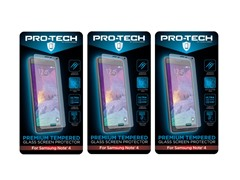 'Tempered Glass Screen Protector for Note 4/5 3pk' from the web at 'https://d3gqasl9vmjfd8.cloudfront.net/ce63e7d8-958f-42b8-b0e6-b9c3eabd0e10.jpg'