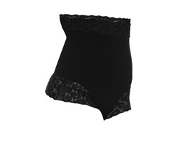 Lace High Waisted G-String, Black (L,XL)