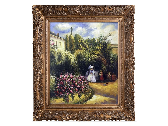 The Garden At Pontoise By Pissarro
