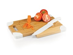 Picnic Time Culina Cutting Board & Knife Set - White