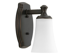 Bathroom Sconce, Oil Rubbed Bronze