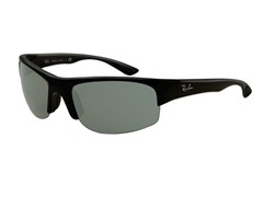 Wraparound Sunglasses, Black Rubberized