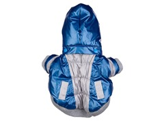 Blue & Beige Aspen Vontage Dog Ski Coat