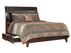 City II King Faux Leather Storage Bed