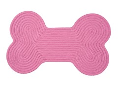 Pink Dog Bone Solid Rug - 3 Sizes