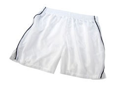 Youth Solid White Shorts with Piping