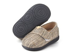 Squeaky Shoe - Sam, Navy Tweed (3-8)