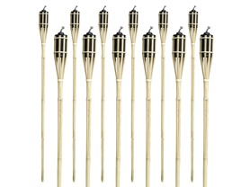 Matney® Bamboo Tiki Torches - Set of 12