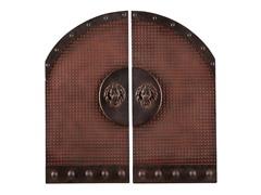 Lion's Head Gate 2pc Wall Plaque Set