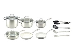 Kevin Dundon 14 Piece Cookware Set SS