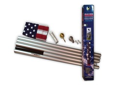 20 ft In-Ground Aluminum Pole Kite w/3x5 Nylon Flag