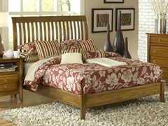 City II Queen Rake Bed in Pecan
