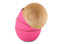 Bamboo Round Bowl Set of 4