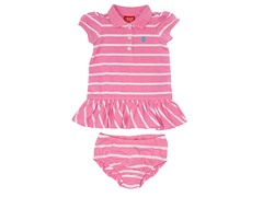 Pink Striped Polo Dress (3M-4T)