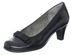 Aerosoles Playhouse Pump, Black Leather