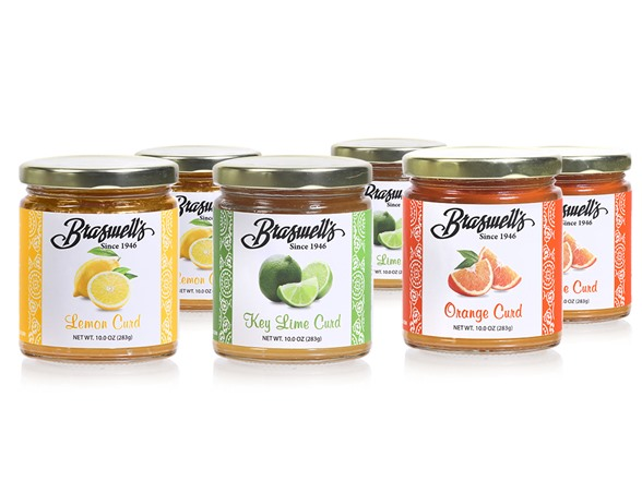 6-Pack Braswell's Key Lime, Orange & Lemon Fruit Curds
