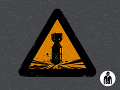 Uranium: 92 Protons of Boom Jersey Zip Hoodie
