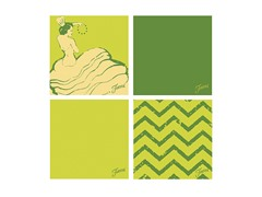 Fiesta Green Dancing Chevrons Coasters