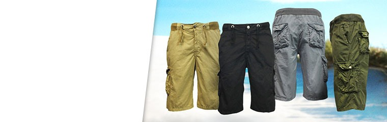 Ribbed Cargo Short from Galaxy by Harvic