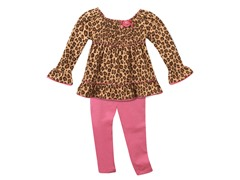 Tunic & Leggings Set - Leopard (2T-6X)