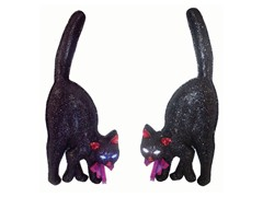 "20"" LED Black Cats Set of 2"
