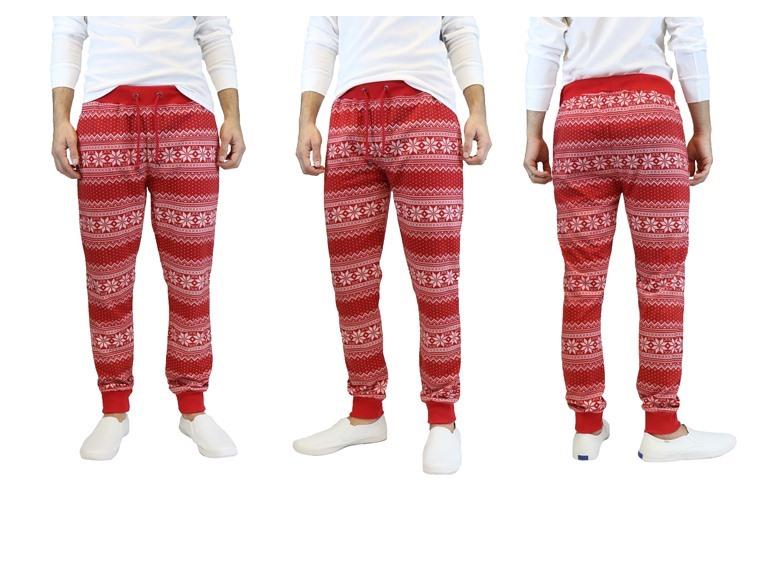Men's Holiday Inspired Ugly Jogger Pants