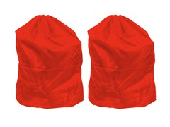 Set of 2 Laundry Bags - Red