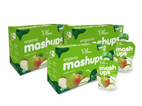 Plum Organics Apple Mashups Pouches 24-Pk