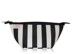 XO Beauty Clutch, Black/Stripe