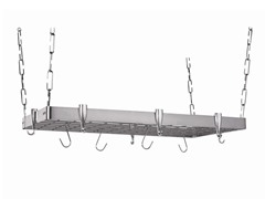 "Rectangular Pot Rack 18""x36"" - Stainless Steel"