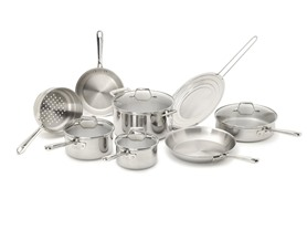 Emeril by All-Clad Tri-Ply 12-Pc Stainless Cookware Set