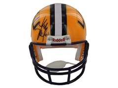 Les Miles Signed LSU Riddell Replica