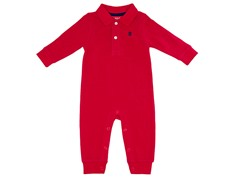 Boys Red Polo Coverall (3-9M)