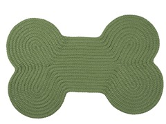 Moss Green Dog Bone Solid Rug - 3 Sizes
