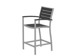 Euro Counter Chair, Silver/Slate Grey