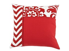 Red/White 17x17 Pillows-S/2