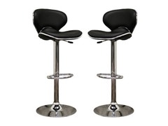 Orion Black Bar Stool- Set of 2