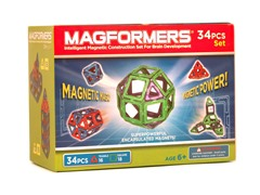 34-Piece Green/Purple Magnetic Set