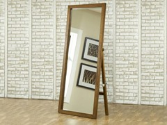 City II Freestanding Floor Mirror Pecan
