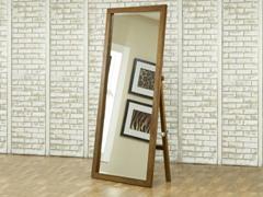 City II Freestanding Floor Mirror Pecan