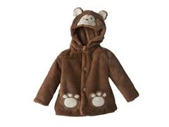 Brown Monkey Sherpa Hoodie (3-12M)