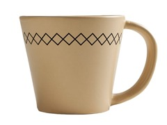K by Keaton 12oz K-Stitch Mug Wheat Set of 6