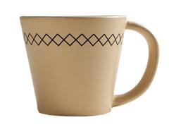 K by Keaton 12oz K-Stitch Mug Wheat Set of 6