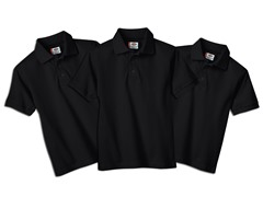 Dickies Men's Black Pique Polo 3-Pack