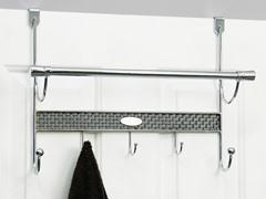 Vanderbilt Chrome Over the Door Towel Bar